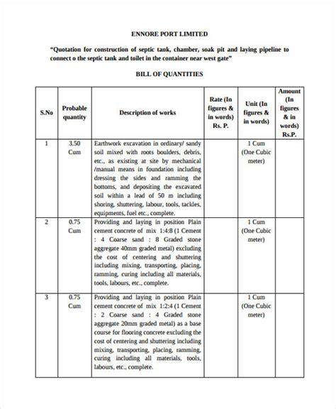 construction quotation 24 quotation exles sles pdf doc