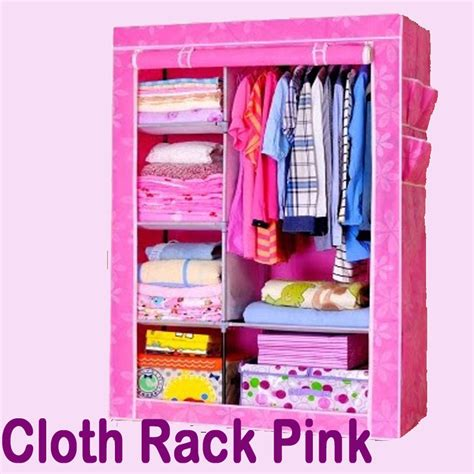 Cloth Rack With Cover Rak Baju Multi Fungsi Lemari Kain Non Woven 2 buy cloth rack with cover rak baju multi fungsi lemari kain non woven deals for only rp249 000