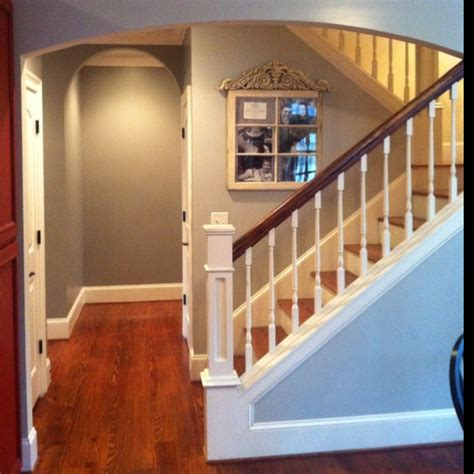 i like the stairs and paint color for basement benjamin paint