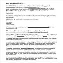 band contract template band contract template 13 free sles exles format