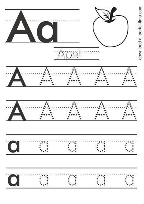 Latihan Menulis Angka belajar menulis huruf dengan huruf titik titik portal
