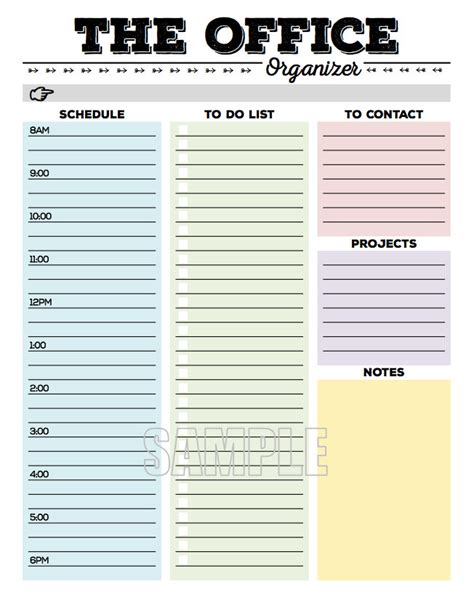 printable to do list organizer the office organizer planner page work planner office