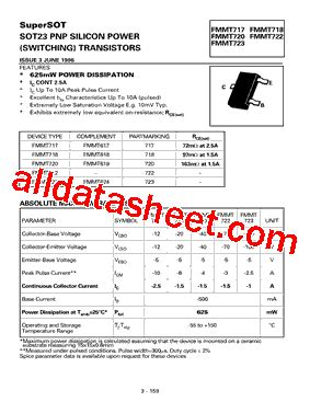 diodes inc ta suffix fmmt720ta 데이터시트 pdf diodes incorporated