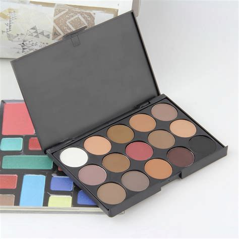 Inez Palette Eye Shadow 15 Colors Promo professional 15 colors warm matte shimmer eyeshadow palette cosmetic in eye shadow from