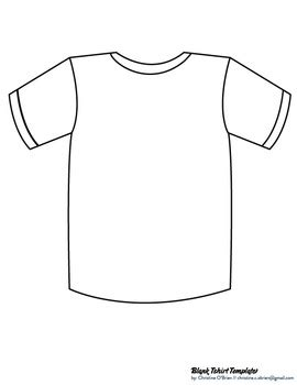Blank T Shirt Template Clip Art Pdf By Christine O Brien Creative T Shirt Design Template Pdf