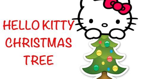 vlogmas day    kitty christmas tree youtube