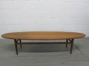 mid century modern surfboard style coffee table by