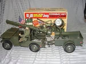 Gi Joe Jeep Hasbro Vintage 1965 Gi Joe Official Jeep Combat Set 7000
