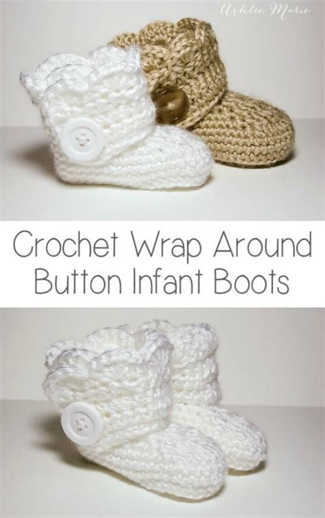 free button boats pattern crochet baby booties 55 free crochet patterns for babies