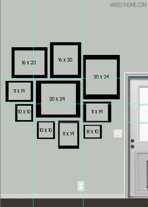 how to select kitchen layouts designwalls com kim s blank wall a new digital gallery wall design