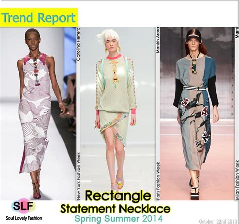 Trend Worth Trying Jeweled Necklines by Rectangle Statement Necklace Jewellery Trend For