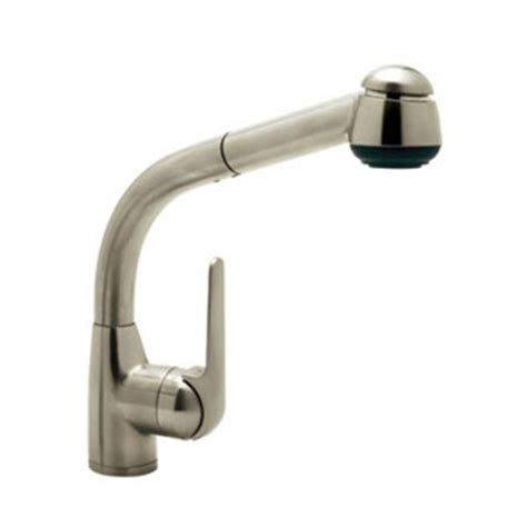rohl pull out kitchen faucet rohl r7913stn de side lever pull out kitchen faucet satin nickel faucetdepot