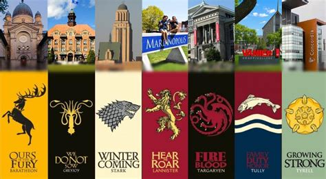which game of thrones house are you if montreal colleges were game of thrones houses mtl blog