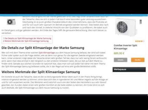 Split Klimaanlage Test 2016 by Split Klimaanlage Samsung Split Klimaanlagen Test