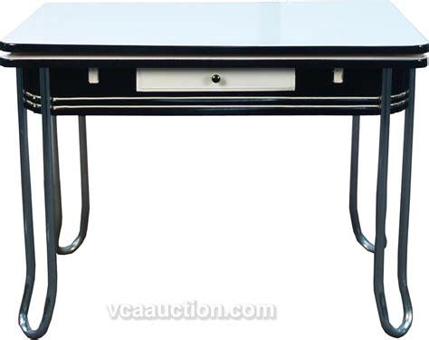 Deco Kitchen Table Vintage Black White Porcelain Art Deco Kitchen Table