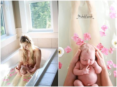 breastfeeding in bathroom postpartum floral herbal bath 1 or 2 days after birth