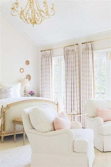 drapes on ceiling bedroom french bedrooms plaid curtains and vaulted ceilings on
