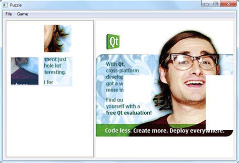 qt tutorial drag and drop drag and drop puzzle exle qt widgets 5 10