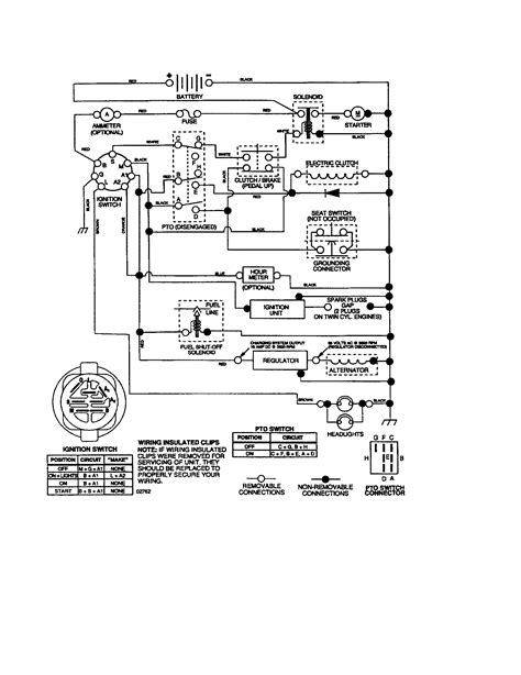 wiring diagram for murray ignition switch lawn mower and