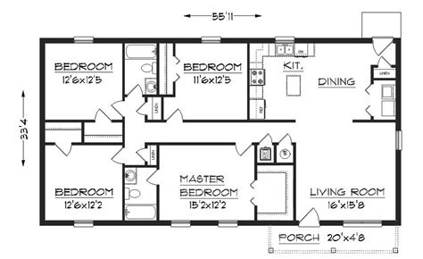 simple one house plans simple one floor house plans plan 1624 floor plan