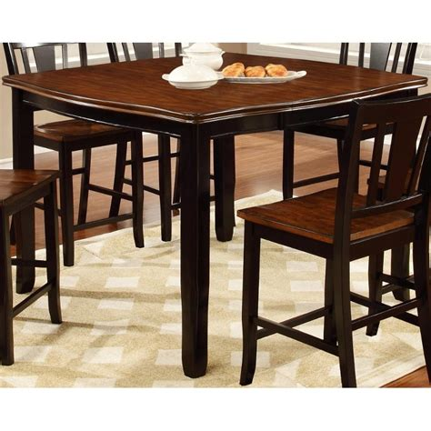 black counter height table dover black cherry counter height dining table