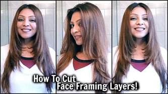 layered hairstyles framed tytorial how to cut face framing layers at home diy long layered