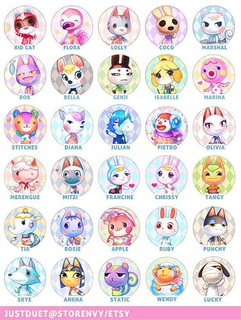 list of acnl characters animal crossing new leaf villager type list theleaf co