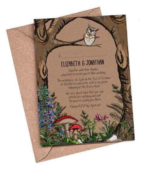 wedding invitations woodland best 25 forest wedding invitations ideas on