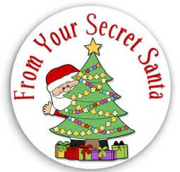 24 stickers secret santa stickers christmas gift tags