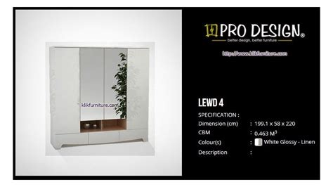 Hawaii Pro Design Lemari Pakaian 4 Pintu Minimalis lewd 4 lemari minimalis putih legia pro design