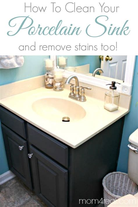 How To Remove A Kitchen Sink How To Get A Clean Porcelain Sink And Remove Rust Stains Stains Salts And Kitchen Sinks