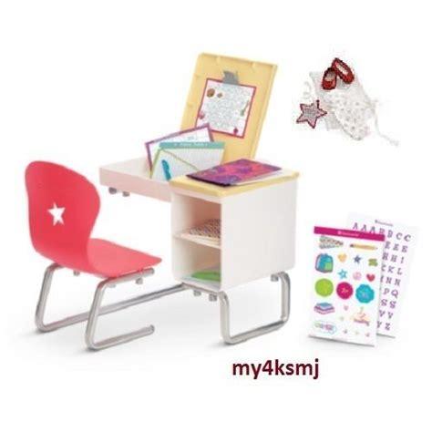 Desk For American Doll by American School Desk Flip Top Desk Set Bonus