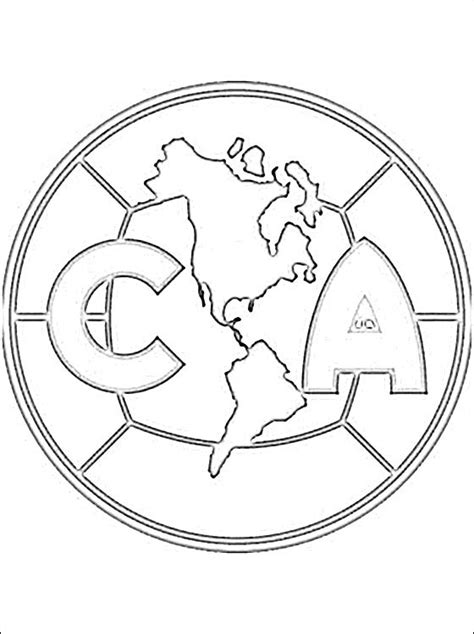 Club Am 233 Rica Football Team Coloring Page Coloring Pages Soccer Team Coloring Pages