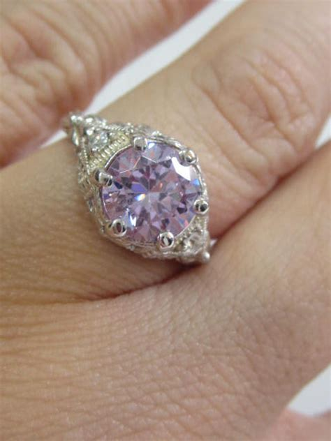 antique reproduction engagement ring vintage ring deco