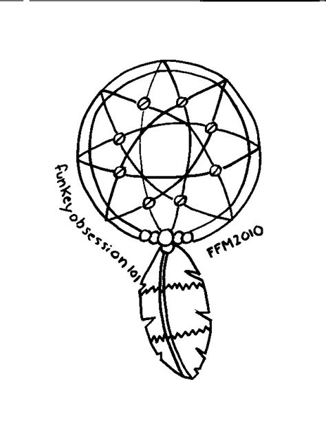 free coloring pages of dream catchers