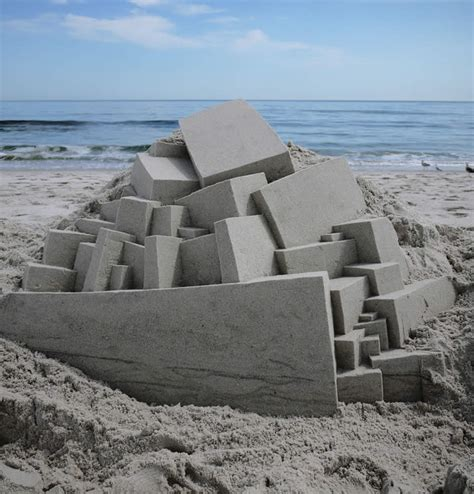 amazing geometric forms sculpted with sand my modern met ultra modern sand castles by calvin seibert scene360