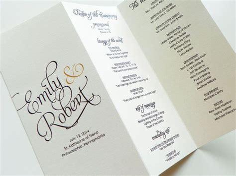 wedding programs bifold folded wedding programs wedding order of service wedding