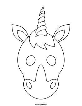 printable unicorn mask printable unicorn mask to color narwhal unicorn bday