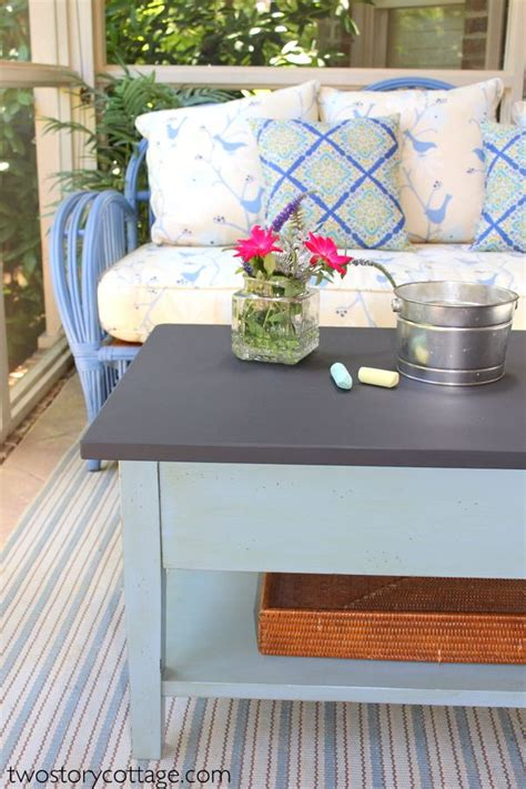 chalkboard paint coffee table two cottage chalkboard coffee table diy