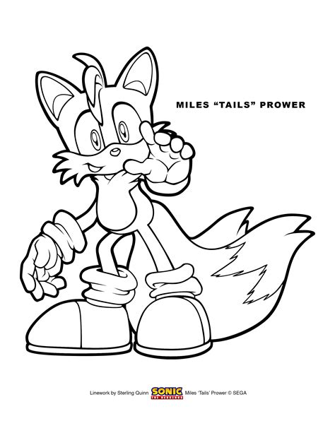 Miles Tails Prower Coloring Page 8 5x11 By Sterlingquinn 8 X 11 Coloring Pages