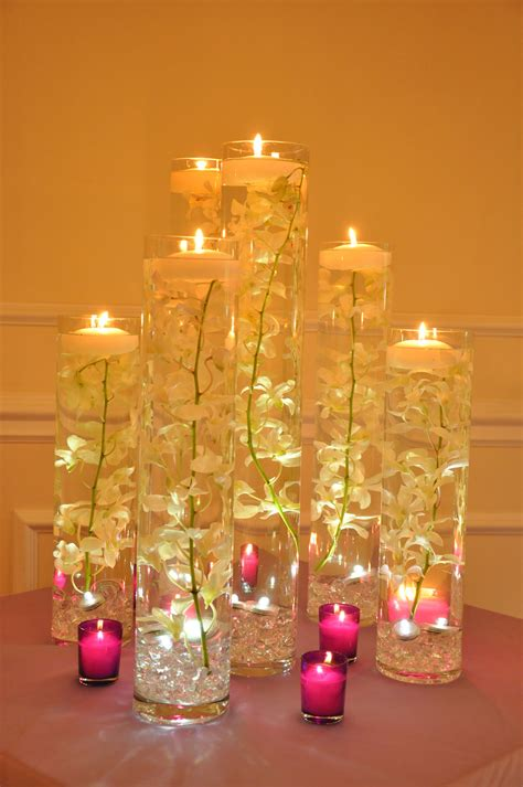 table decorations with candles and flowers simple but wedding flowers only details