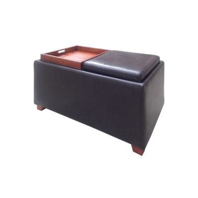double tray storage ottoman home decorators collection brexley double storage leather