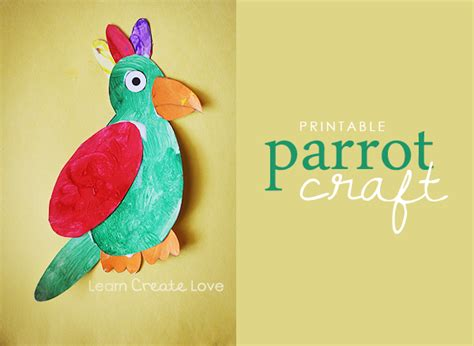 How To Make Parrot With Craft Paper - printable parrot craft