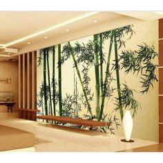tapisserie bambou papier peint 3d asiatique paysage zen jardin