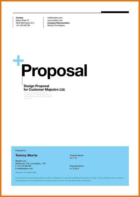 proposal cover page business proposal title page page 1