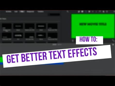 imovie tutorial adding text how to get more text effects imovie tutorial youtube