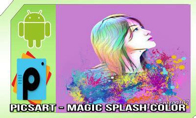 tutorial edit foto typography picsart tutorial editing picsart magic splash di android