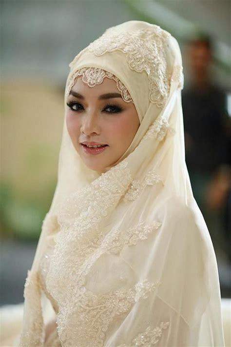 Jilbab Syari Pengantin Hiasan Pengantin Yang Bagus Untuk Dikenakan