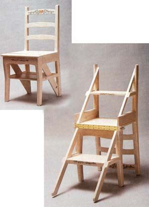 library chair step ladder plans cnc machine wood carving