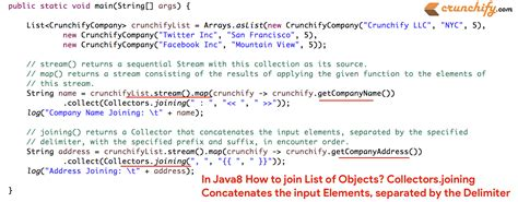 pattern delimiter java in java8 how to join list of objects collectorsining